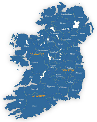 Paintshop Contacts Map Of Ireland